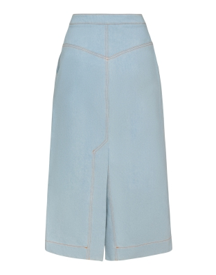 Denim Midi-Skirt